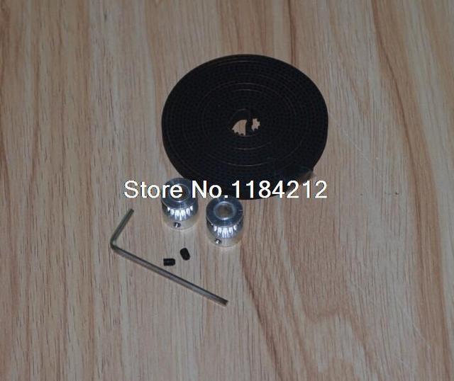 2 Unids 20-GT2-6 Polea GT2 Y 2 m GT2-6mm Abrir GT2 Correa para impresora 3D (4xM3 tornillos de fijación y 1 key-1xallen)