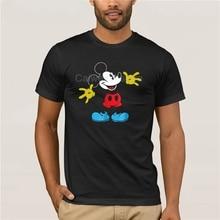 fashion men Excited Mickey Mouse T shirt Fashion Printed men's Fashion Mens Short sleeve T Shirt