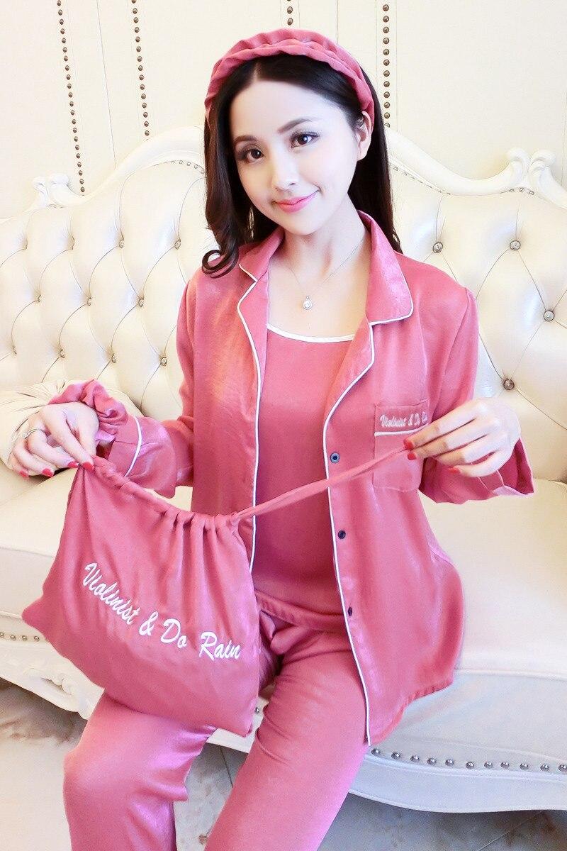 Queenral Women Silk Pajamas 7pcs Sets Pyjamas Set Women Underwear Home Clothes Sexy Pajamas For Women Night Suit Sleepwear  2