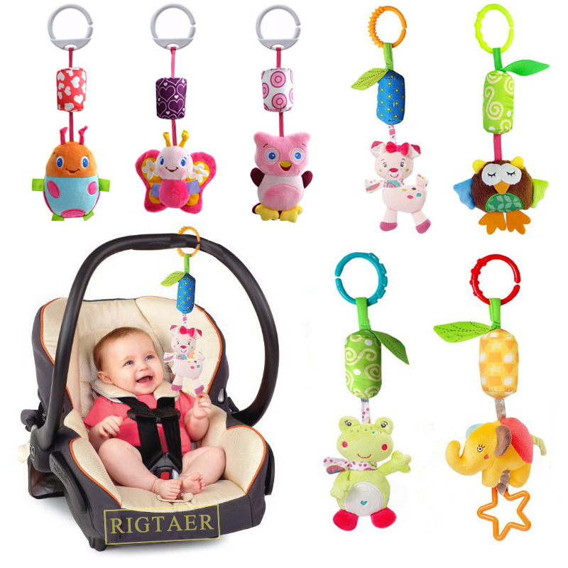 Baby Early Educational Toys New Infant Mobile Baby Plush Toy Bed Wind Chimes Rattles Bell Toy Stroller For Newborn Kids Toy