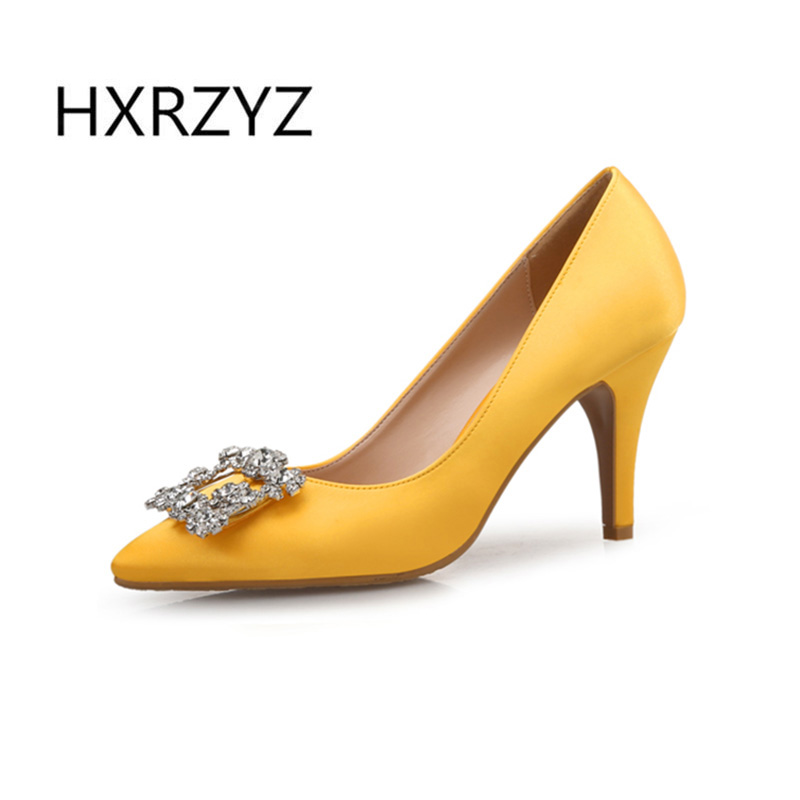 Spring and autumn new fashion shoes woman pointed toe thin heels women sexy high-heeled silks shoes large size high heel shoes 2015 autumn thin heels high heeled shoes rhinestone hasp sexy cutout women s shoes pointed toe single shoes female sandals