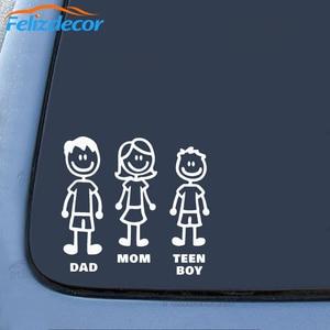 Image 4 - DIY kendinden yapışkanlı şekil aile çıkartmaları kalıp kesim vinil yapışkan Fam tampon araba pencere Slaps aile eğlence köpek kedi bebek çocuk L826