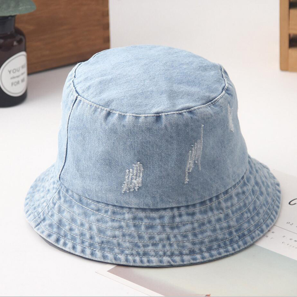 Piano Keys Heart Adult Trendy Denim Sun Hat Adjustable Baseball Cap
