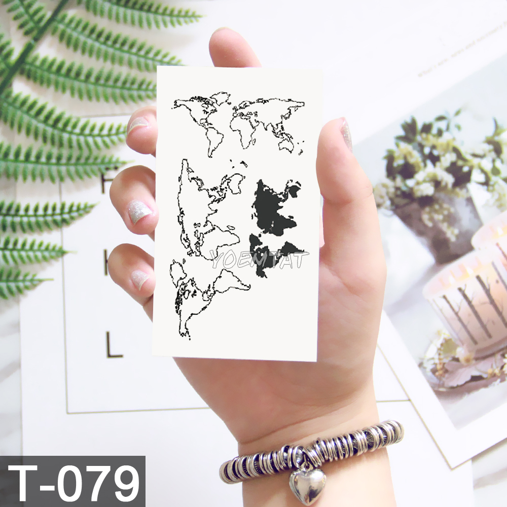 Geometry cool Temporary Tattoo Sticker Women Minimalist lines pattern Body Art New Design Fake Men Tattoos 2