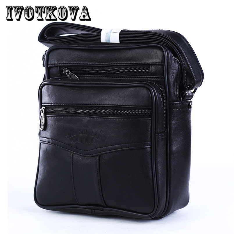IVOTKOVA 2017 Men Bags Ipad Handbags Sheepskin Leather Male Messenger Purse Man Crossbod ...