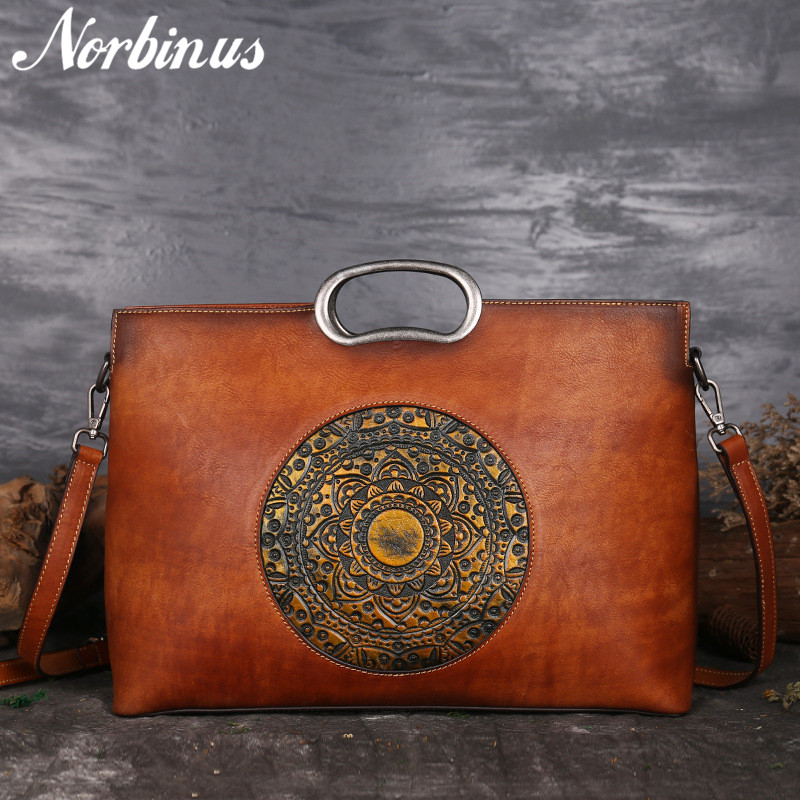Norbinus Real Cow Leather Ladies Handbags Luxury Brand Women Genuine Leather Tote Big Capacity Manual Painting Shoulder Bags NewNorbinus Real Cow Leather Ladies Handbags Luxury Brand Women Genuine Leather Tote Big Capacity Manual Painting Shoulder Bags New