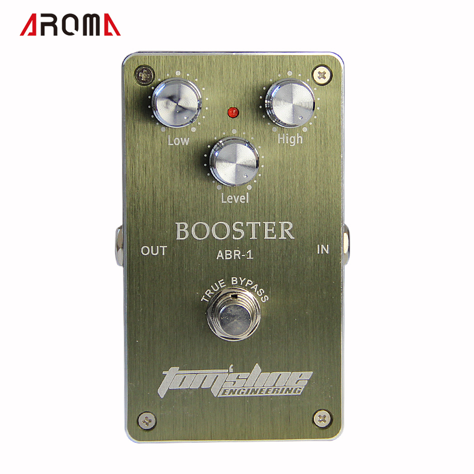 NEW GUITAR Pedal/ Aroma Premium Effect Pedal ABR-1 Booster AC/DC Adapter Jack new arrival guitar effects booster guitar effect pedal aluminum alloy housing ture bypass aroma abr 1