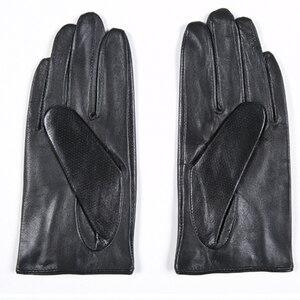 Image 4 - Gours frauen Winter Echtem Leder Handschuhe Neue Mode Marke Damen Schwarz Ungefüttert Fahren Handschuhe Ziegenleder Handschuhe GSL010
