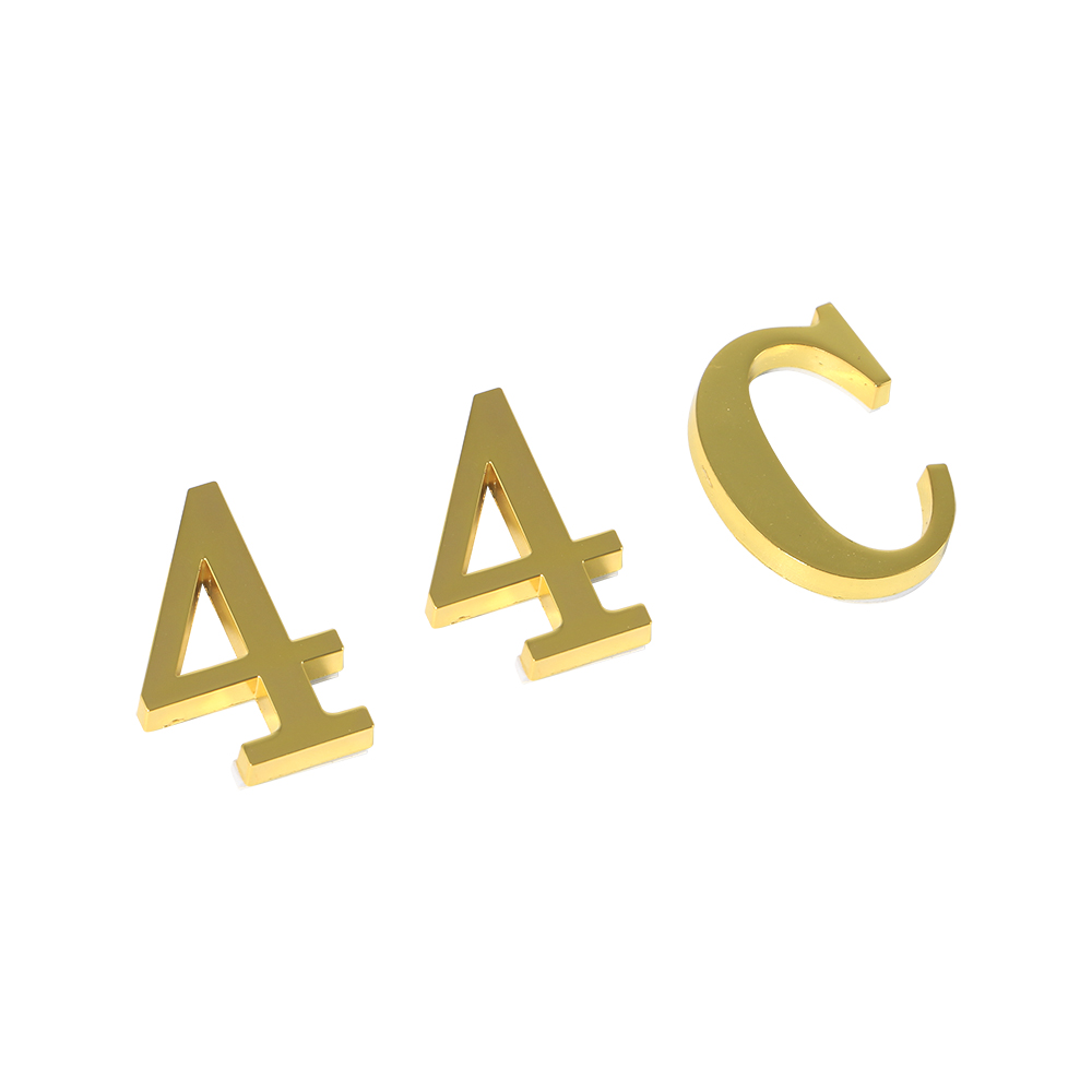 High Grade Custom Metal Bronze Digital Size English Letter Alphabetic Door Number Word Wall Mounted Numbers Wall Letters Plate