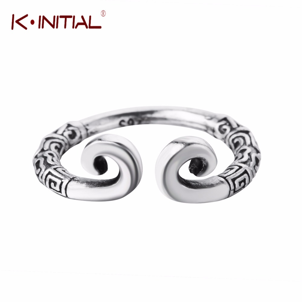 Spirited Kinitial 925 Sterling Silver Tight Hoop Rings Resizable Opening Ring Pattern Handsome Monkey King For Fans Women Jewelry Jewelry & Accessories Wedding & Engagement Jewelry