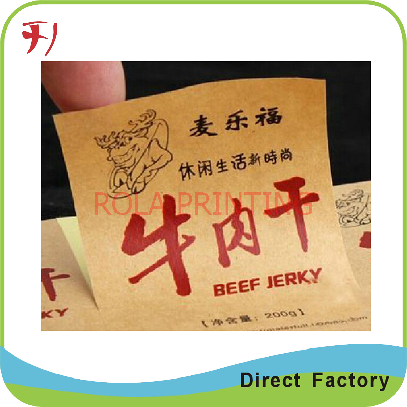 Durable and waterproof plastic labels printing for electronic cigarete