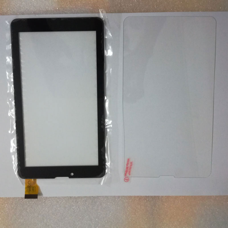 Myslc touch screen replacement for 7 Irbis TZ709 3G Tablet touch Panel glass +tempered glass protector film tempered glass protector new touch screen panel digitizer for 7 irbis tz709 3g tablet glass sensor replacement free ship