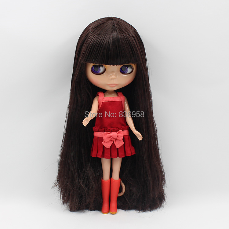 Factory Blyth Doll Normal/joint Body Tan Skin Deep Brown Hair Bl0312 With Bangs/fringes 1/6 30cm Toys & Hobbies