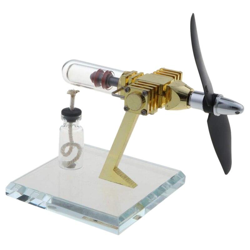 Hélice rotative Stirling moteur moteur modèle vapeur chaleur générateur modèle physique jouet Collection Creative éducatif jouet