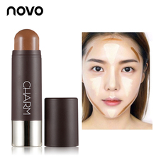 NOVO Face Makeup Highlighter Shimmer Stick Blush Cream Modify Charming V Face Blusher Grooming Contour Bronzer Powder Cosmetics professional charming face highlighter blusher powder pallete beauty natural makeup eyeshadow contour shading powder cosmetics