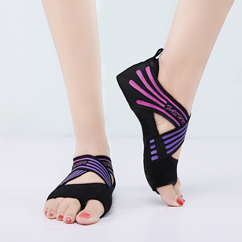Frauen Nicht-slip Fitness Dance Pilates Socken Professionelle Innen Halb Zeh Yoga Schuhe Neopren Pilates Ballett Tanzen Socken Sport & Unterhaltung