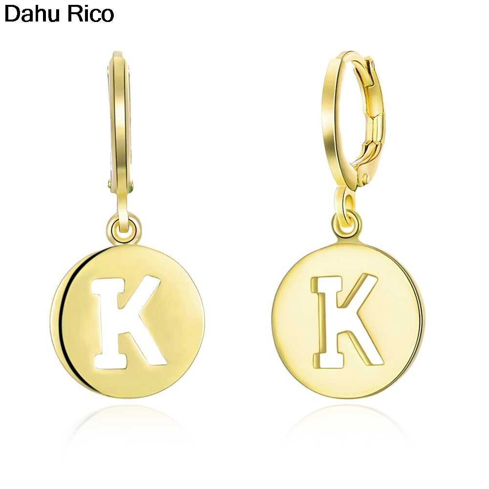 "letter ""K"" hollowed-out carved round fantaisie pendantes orecchini drop tai corrente gypsy de luxe ace Dahu Rico dangle earrings"