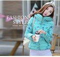 Cheap wholesale 2017 new Autumn Winter Hot sale women's fashion casual brief paragraph down cotton jacket hooded printing