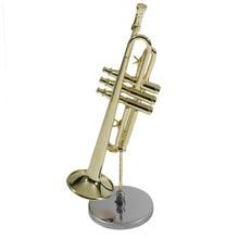 Мини Труба хороший подарок для ребенка мини музыкальная труба инструмент модель для ребенка мини труба с чехлом Горячая