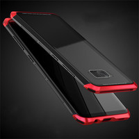 LUPHIE Mosaic Easy Instal Metal And Tempered Glass Phone Cases For Samsung S8 Plus Light Fashion