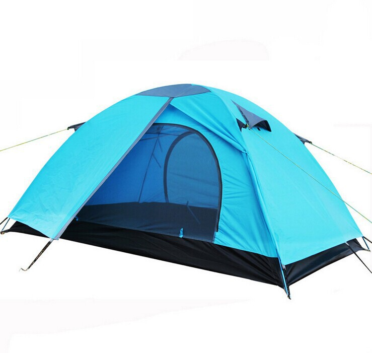 camping tent aluminum pole tent double layer outdoor tent