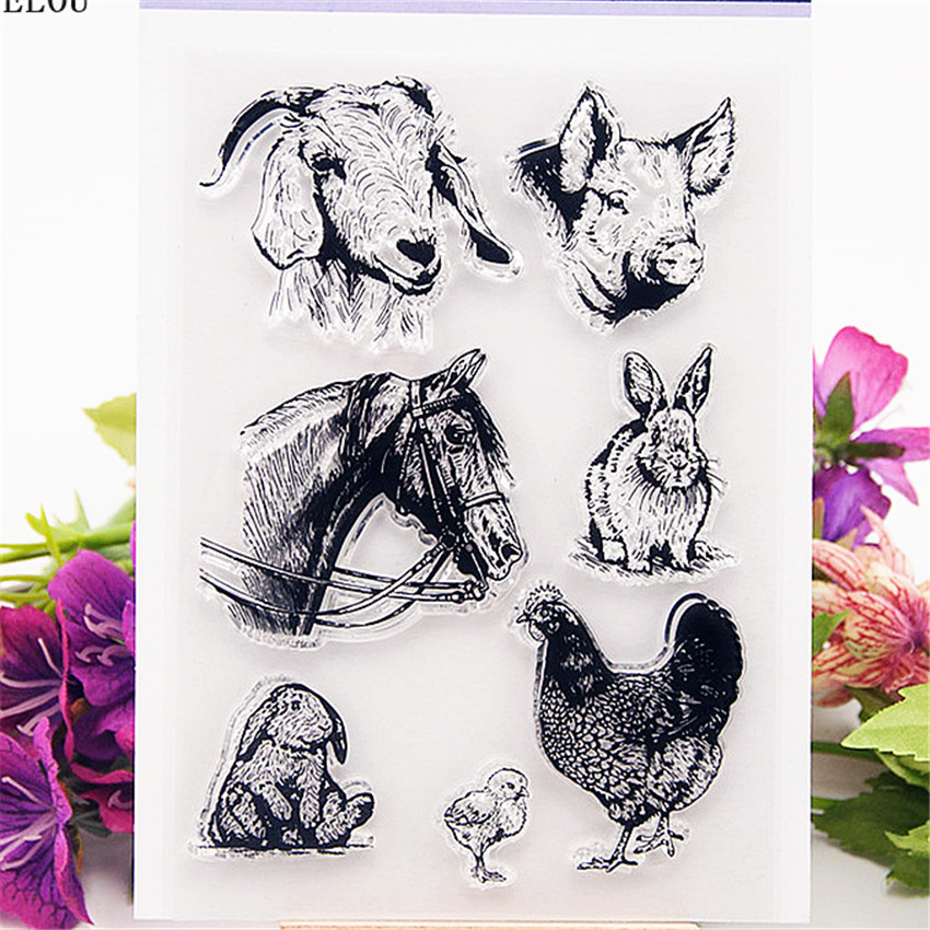 PANFELOU The Happy Farm Transparent Clear Silicone Stamp/Seal for DIY scrapbooking/photo album Decorative clear stamp sheets