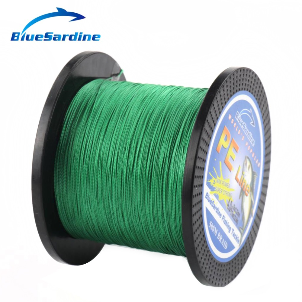 BlueSardine Green Braided Fishing Line 500M Multifilament PE Braid - თევზაობა - ფოტო 2
