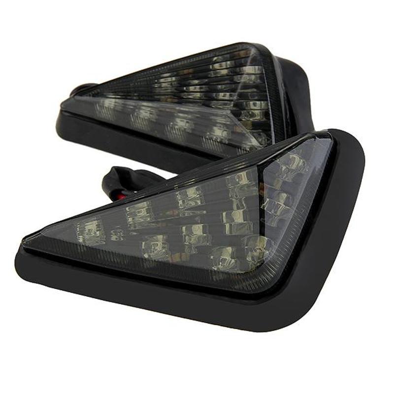 2x Motorcycle Yellow Turn Signal LED Light for Honda