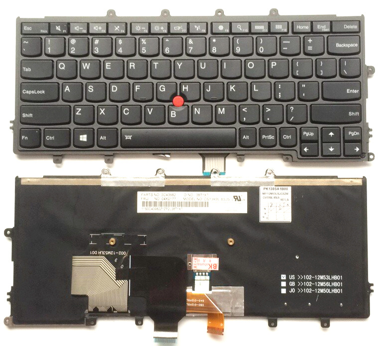 US Black With Backlight New English Replace laptop keyboard For Lenovo For IBM x240 x240s x240i x230s X230 X250 X260S