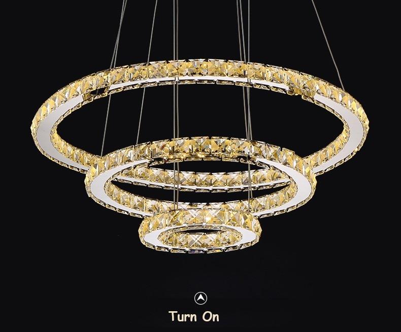 Plafoniere Led Moderne : Moderne kronleuchter led kristall ring
