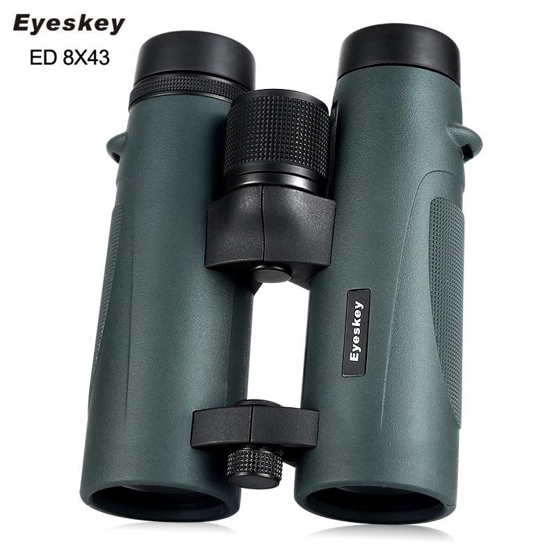 ED Glass 8x43 Eyeskey Binoculars Waterproof Telescope Bak4 Prism Optics Camping Hunting Scopes Powerful Professional Binoculars