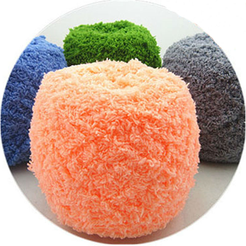 500 g / zak Chenille Coral Cashmere Sjaal Handdoek Grof Pluche - Kunsten, ambachten en naaien
