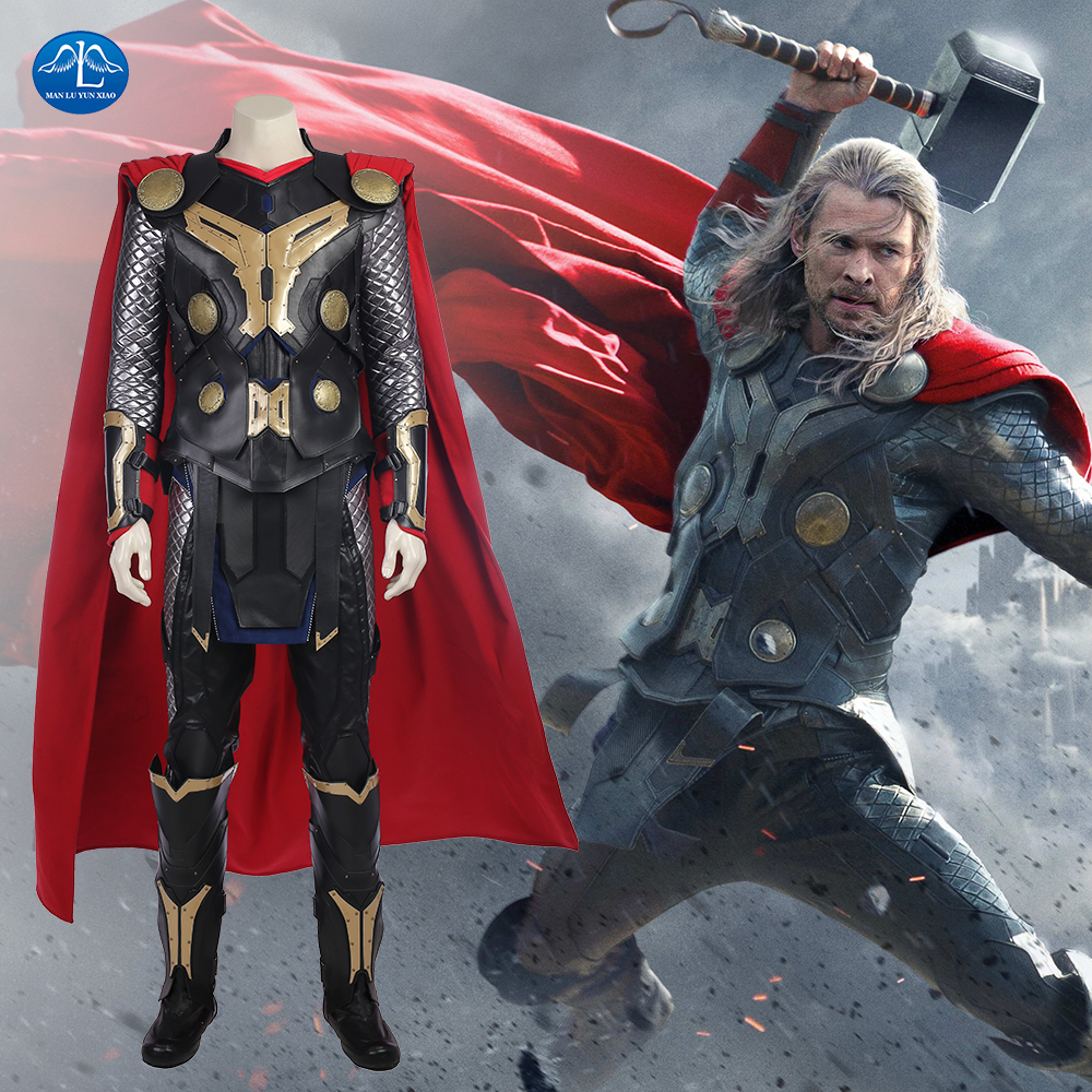 Film di Thor Thor The Dark World Thor Costume Thor Ragnarok Cosplay Costume Thor Odinson Costume di Halloween Cosplay Costume Su Ordine