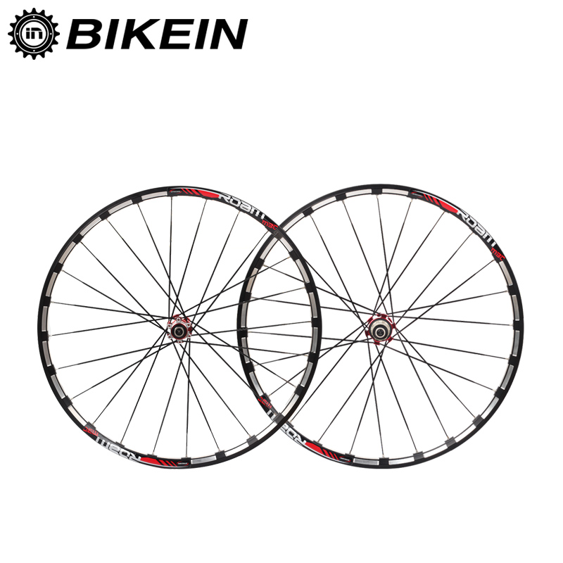 BIKEIN 7 Bearing 120 Sound Carbon Hub Mountain Bike Wheels 14G Spokes Rim 26/27.5 8/9/10/11 Speed Disc Brake Bicycle Wheelset free shipping lutu xt wheelset mtb mountain bike 26 27 5 29er 32h disc brake 11 speed no carbon bicycle wheels super good