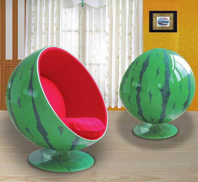 Ball Chairs Slipcover Wingback Chair Classic Designer Watermelon Fiberglass Size High Gloss Matte