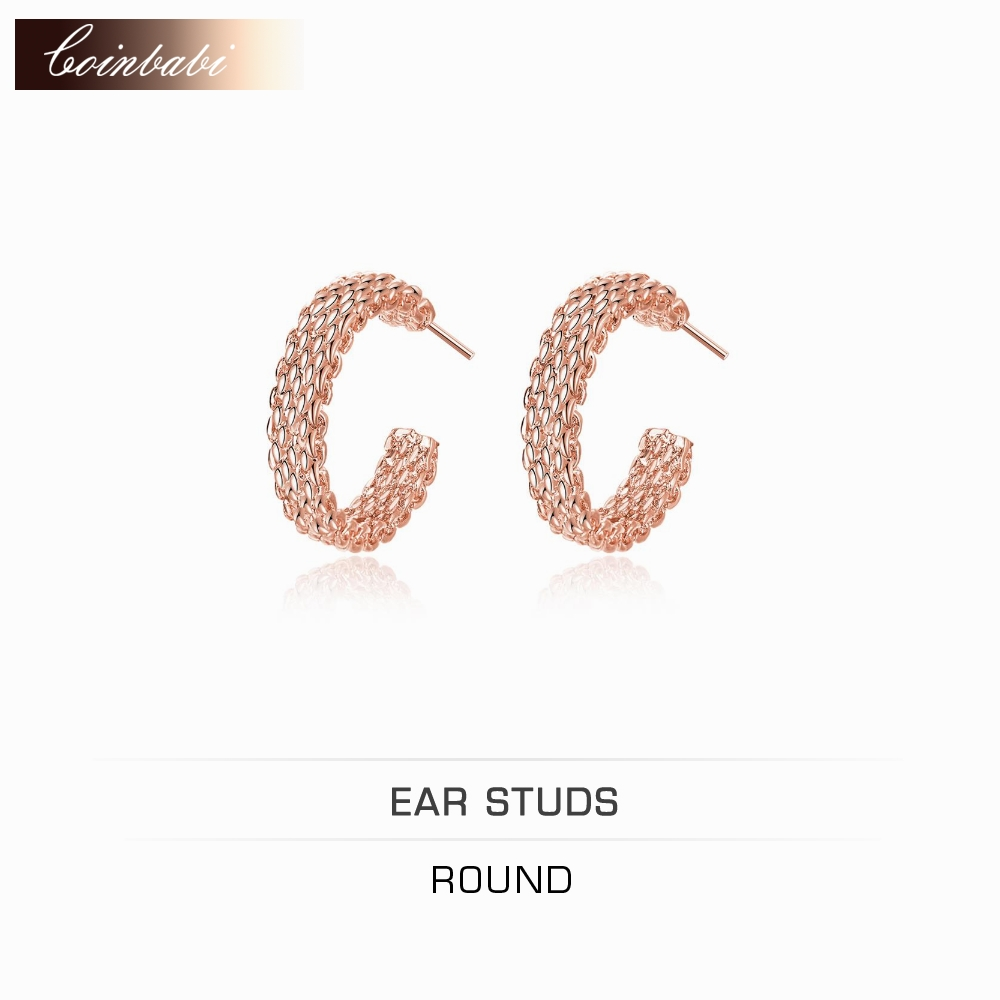 career sites promotion shop for promotional career sites on round stud earrings office 925 sterling silver gift accessories for women girls rose gold woven web site round earrings jewelry