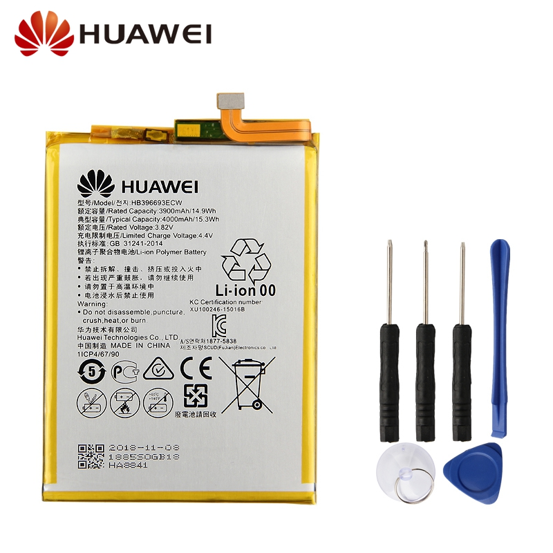 Huawei Original Replacement Battery HB396693ECW For Mate 8 Mate8 NXT-AL10 NXT-TL00 NXT-CL00 NXT-DL00 4000mAh