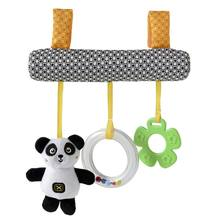 1 SET Squeaky Cartoon Animal Crib Holder Hanging Toys For Baby Stroller Crib Mobile Kids Toys For Baby 0-12 Months Educational(China)