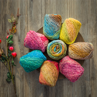260m Ball Artist Paintings Color Dyeing Wool Knitting Crochet Yarn Knit Sewing Thread For Knitting Weaving