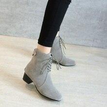 SALCXOI ankle boots for font b women b font winter boots font b women b font