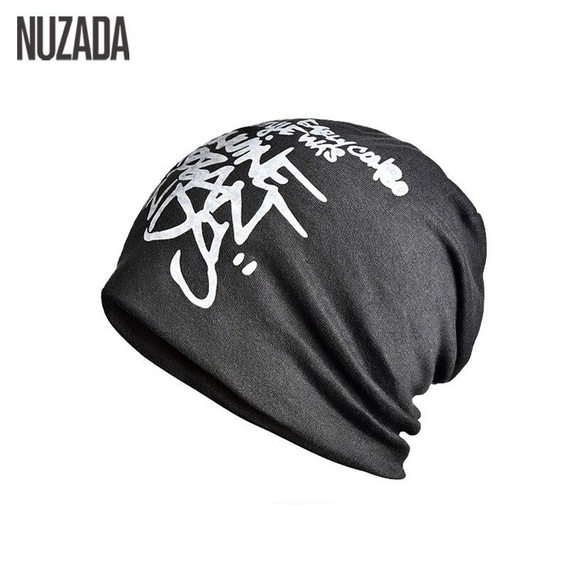 Брендовая шапка NUZADA с надписью, шапочки для мужчин и женщин, вязаные шапки, шапка, двухслойная хлопковая шапка, Осень-зима