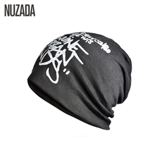 Brand NUZADA Letter Hedging Cap Men Women Skullies Beanies Knitting Kn
