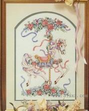 Fishxx 크로스 스티치 키트 t192 꽃 회전 목마 그림 자수 세트 100% 이집트 면화 바느질에 사랑스러운 가정 용품