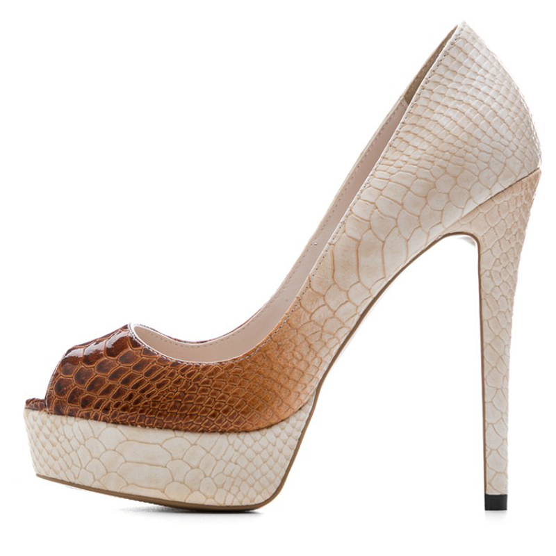 Sandalen Plattform A242 Schlange Dame Schuhe Print Peep Sexy High Auf Themost Heels Slip 1 Tier Toe U1qOP44S