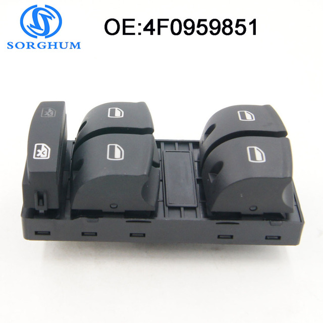 New 4F0959851 Window Master Power Switch for Audi A3 2003-2014 fit Audi Q7 4L Driver Side Electric Control Switch  4F0959851F
