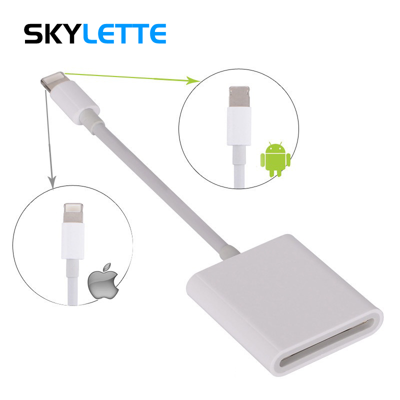Combo SD Card Reader Digital Camera Kit 256G Support OTG Adapter Cable For iPhone iOS 9.2 Newest iPad Android Device Needn't APP-in Card Readers from Computer & Office