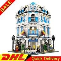 В наличии БЕСПЛАТНАЯ ДОСТАВКА Legogo 15018 3196 шт. новый город МОС наборы Солнечный отель набор строительных блоков Кирпичи lepinings DIY игрушки