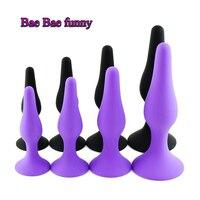 4pcs Set Anal Plug Jelly Toys Real Skin Feeling Adult Sex Toys Faloimitator Butt Plug Juguetes