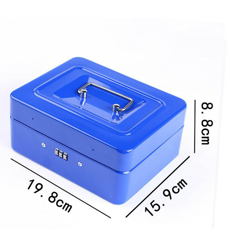 Portable  Security Safety Safe Money Jewelry Storage Collection Box Home School Office Layered Tray Security Storage Box DHZ012