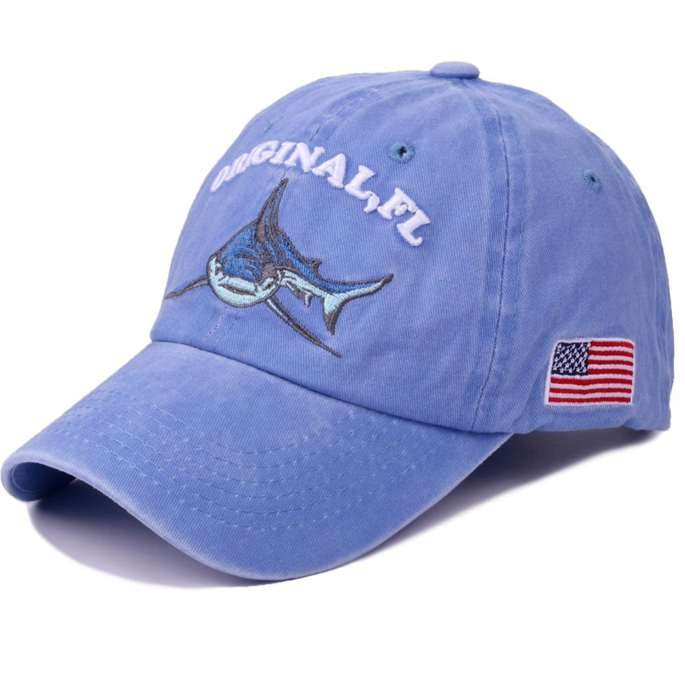 Fashion Blue Baseball Cap Women Animal Shark Shape Youth Girls Hats Casquette Homme Black Womens Letter Embroidery Dad Cap